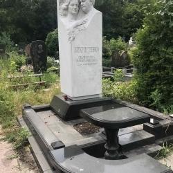 Уборка могилы. Байковое кладбище. До