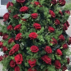 Ритуальный венок из живых цветов_14