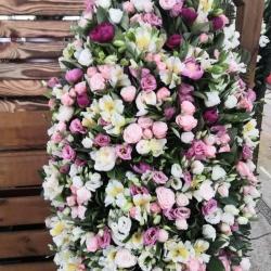 Ритуальный венок из живых цветов_20
