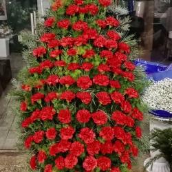 Ритуальный венок из живых цветов_25