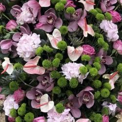 Ритуальный венок из живых цветов_9